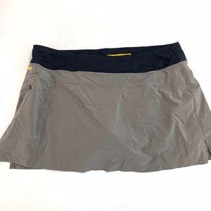 Lole Gray Skort Tennis Skirt Shorts Women Size XL